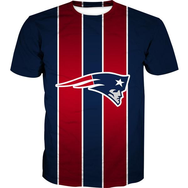 Red and Blue New England Patriots T-Shirt - Football Patriots Clothes