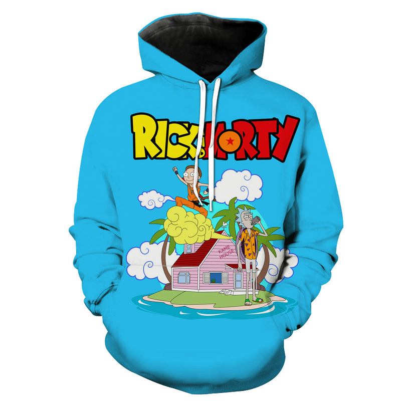 Rick and Morty x Dragon Ball Hoodie - Crossover Hoodie