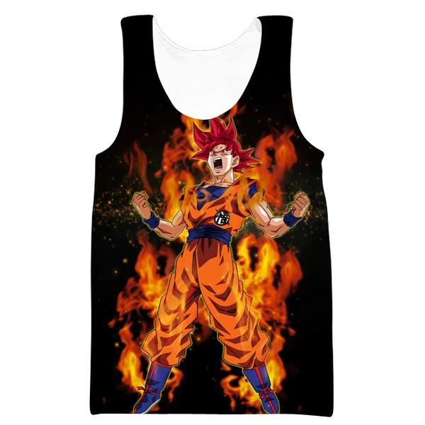 Super Saiyan God Goku Tank Top - Dragon Ball Super Clothes