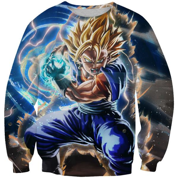 Super Saiyan Vegito Sweatshirt - Final Kamehameha Dragon Ball Clothes