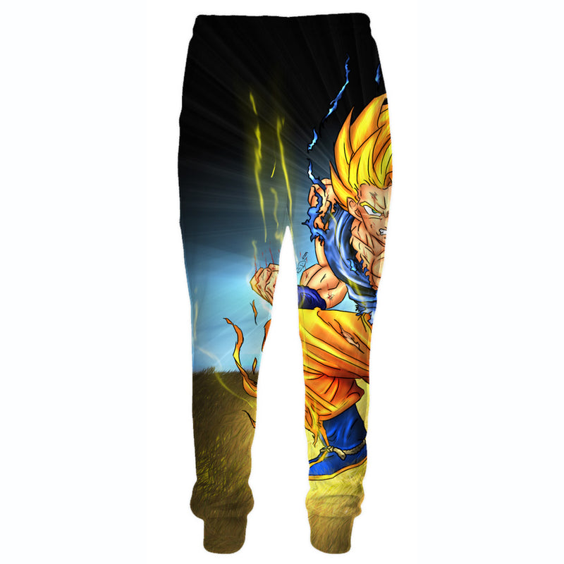 Battle Damaged SSJ Goku Sweatpants - Dragon Ball Z Goku Clothes