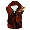 Red Fire Dragon Hoodie - Fantasy Clothing