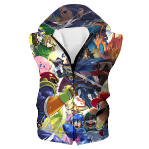 Super Smash Bros Hooded Tank - Video Game Clothing