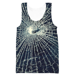 Broken Glass Tank Top - Epic Printed Clothes