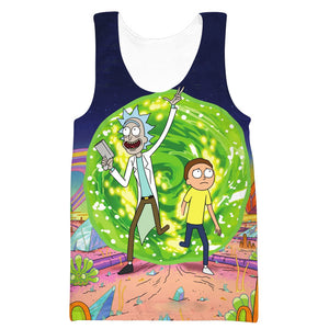 Rick and Morty Portal Hoodie - Rick and Morty Clothing