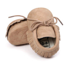 Tan Baby Tassle Moccasin Baby Shoes