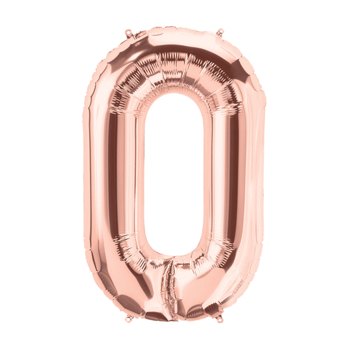 34in Letter O Rose Gold Balloon