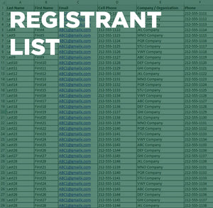 Atlanta Registrant List