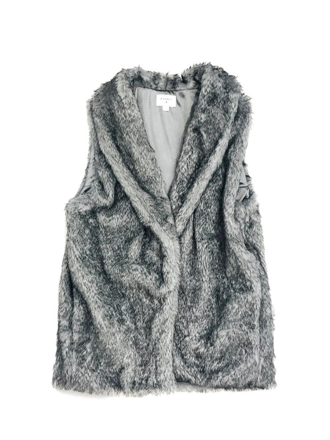 Faux Fur Vest With Side Pockets - Mott and Prince