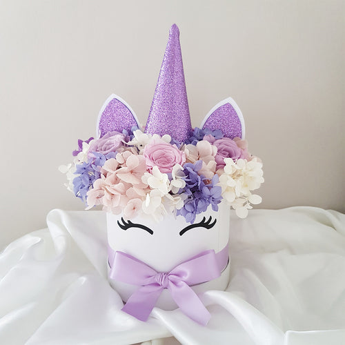 Everlasting Purple Unicorn Floral