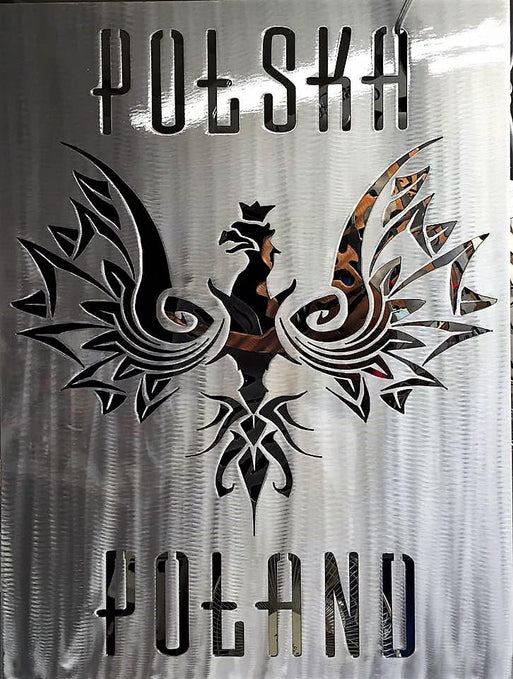Polish Flag Metal Wall Art Customized