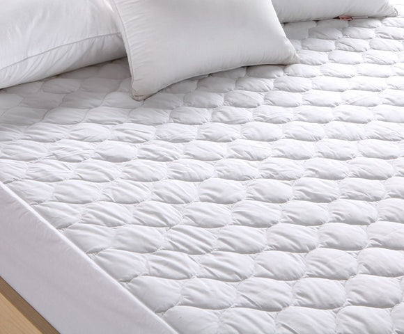 Pal Fabric 100%Cotton  Quited Mattress Protector-Waterproof-Vinyl Free-Stretvh fitted Skirt- QUEEN SIZE