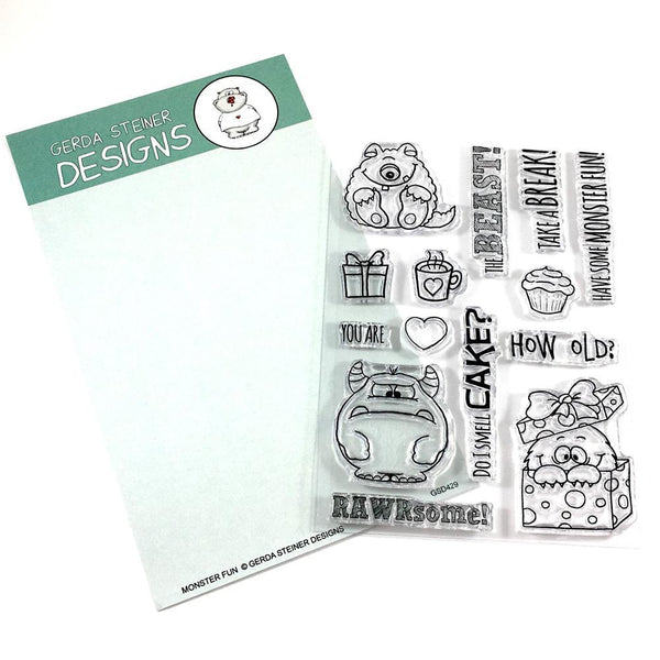 Monster Fun 4 x 6 Clear stamp set