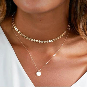 Charming Coin Chain Multilayer Choker