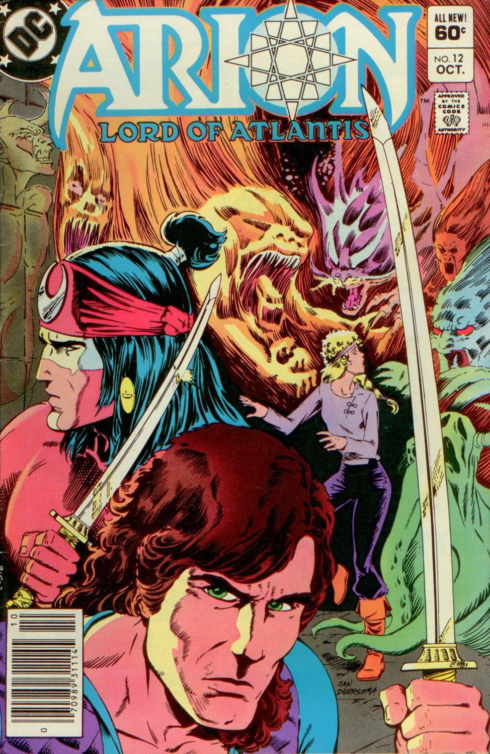 ARION, LORD OF ATLANTIS 12, DC 1983
