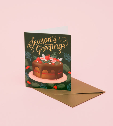 HOLIDAY DESSERT CARD - DEEP GREEN