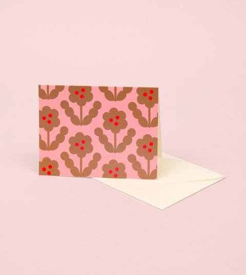 BLOSSOM GOLD GREETING CARD - GOLD PETAL