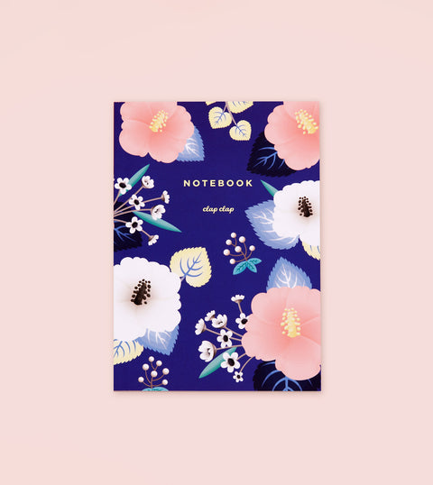 HIBISCUS NOTEBOOK – BLUE