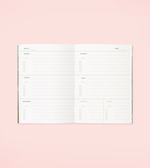 BOTANICAL POCKET PLANNER – BEIGE