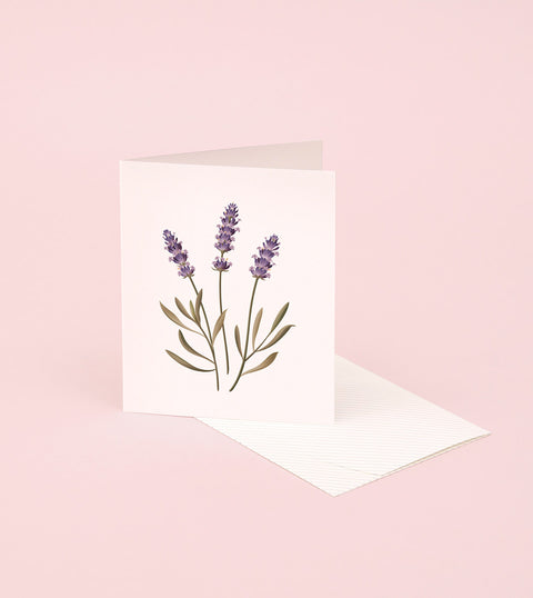 BOTANICAL SCENTED CARD – LAVENDER