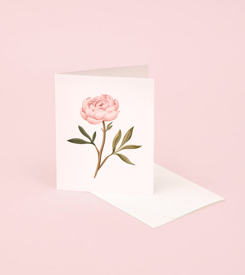 BOTANICAL SCENTED CARD – PEONY