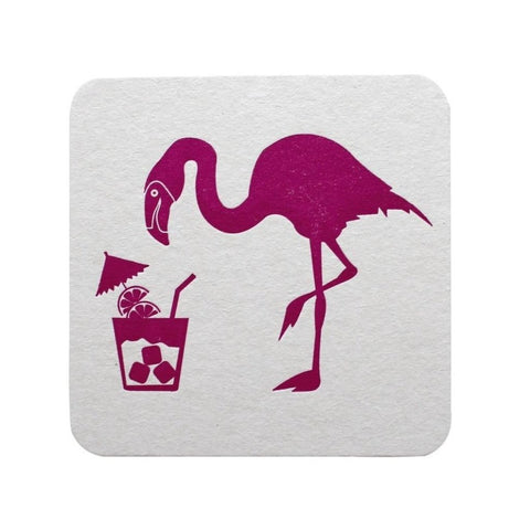 FLAMINGO AND DRINK COASTERS