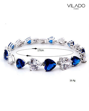 Blue Heart Diamond Bracelet