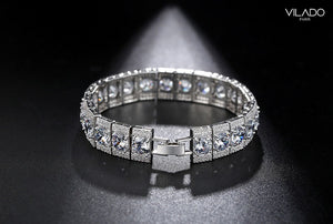 High-end Luxury Fashion Silver Designer Diamond Bracelets