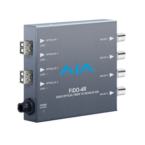 AJA-FiDO-4R-MM 4-Channel Multi-Mode LC Fiber to 3G-SDI Receiver