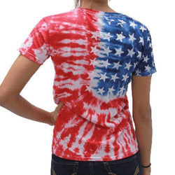 Ladies Tie Dye Flag T-Shirt - The Flag Shirt