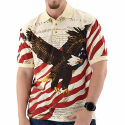 American Flag Shirt Eagle Soaring