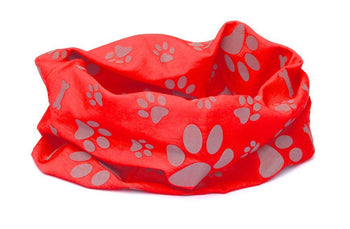Reflective Dog Scarf/Bandana! Red RUFFNEK
