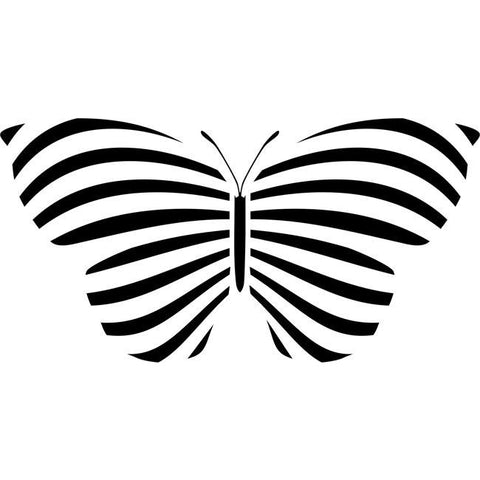 Striped Butterfly Stencil