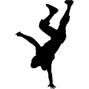 Handstand Break Dance Stencil 02