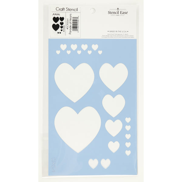 Parade of Hearts Craft Stencil