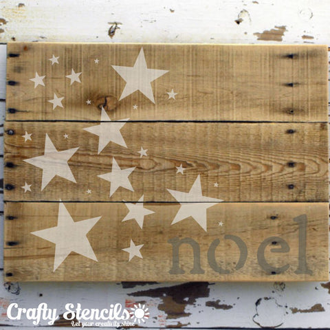 Parade of Stars Craft Stencil