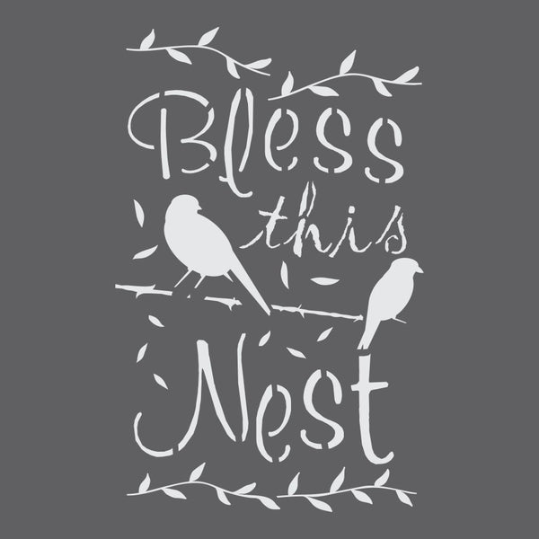 Bless This Nest Craft Stencil