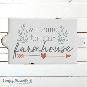 Welcome to Our Farmhouse Craft Stencil