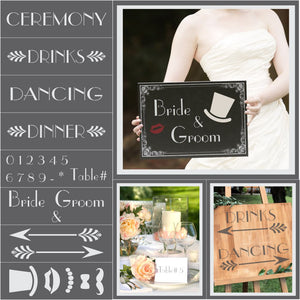 Vintage 1920's Wedding Stencil Kit