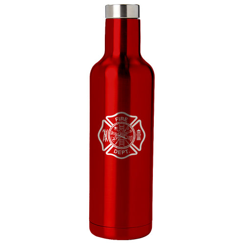 PURE Drinkware 25 oz Bottle - Fire Department (Red) - PURE Drinkware