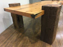 Reclaimed Barn Wood Console Coffee Table, Authentic 1800s Solid Oak