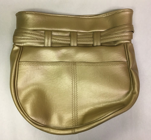 Vintage 1960s Gold Leather Purse-Handmade Excellent Condition