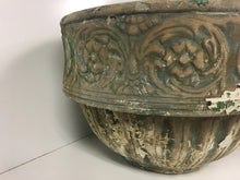 Victorian Terra Cotta Planter Italian Embossed Floral and Grape Design