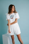 Cloud Walk Eyelet Ruffle Top