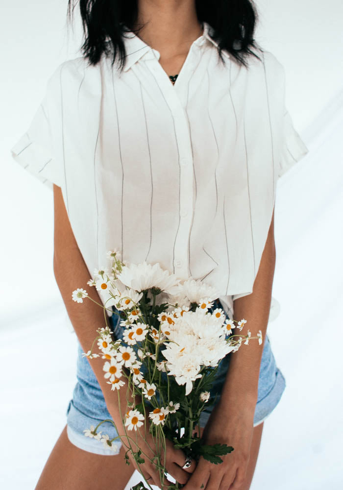 Vacay Babe Button Up Top