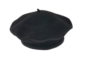 Black Beret 100% Wool Winter Hats Millinery