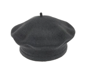 Dark Beret 100% Wool Winter Hats Millinery
