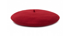 Red Beret 100% Wool Winter Hats Millinery Flat shot