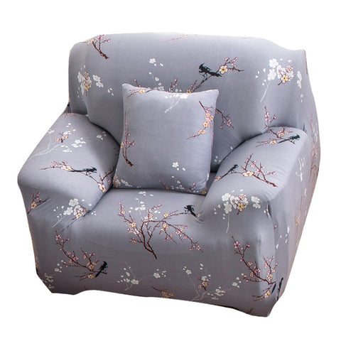 Flower Printed Cloth Art Sofa Cover Spandex Stretch Slipcover Sofa Furniture Cover Home/office/hotel Dustproof Sofa Covers