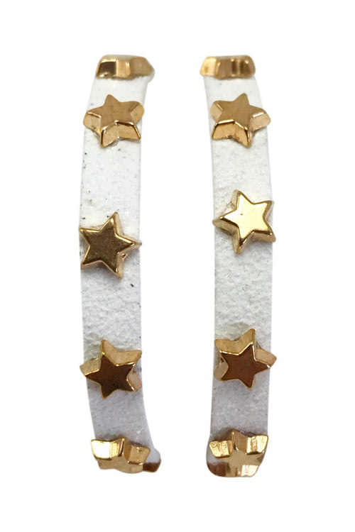 Star Studded Wrap Bracelet, White